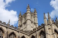 Free Rooftop And Tower Of Bath Abbey In England Royalty Free Stock Images - 19512419