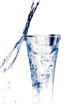 Free Glass Of Water On White Stock Images - 19513284