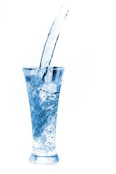 Free Glass Of Water On White Stock Photos - 19513293