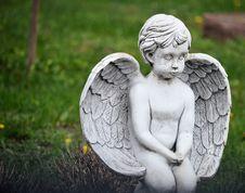 Free Stone Angel Child Royalty Free Stock Photos - 19513448