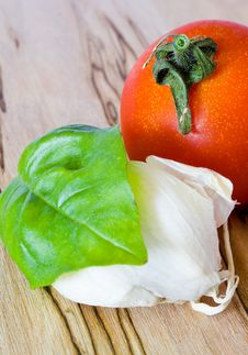 Free Tomato, Garlic And Basil Royalty Free Stock Photo - 19513505