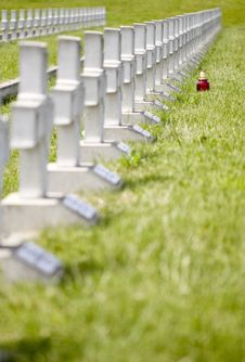 Free Military Cemetery Royalty Free Stock Images - 19513759