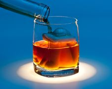 Free Drown In A Glass Of Alcohol Stock Photography - 19514312