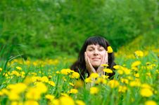 Free Woman On The Grass Stock Photography - 19514892