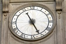 Cathedral Clock Royalty Free Stock Photo