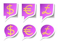 Free Speech Bubbles With Symbol Money Royalty Free Stock Image - 19515426