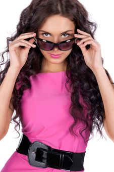 Free Beautiful Young Model Wearing Sunglasses Royalty Free Stock Photos - 19515428