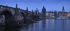 Free Night Charles Bridge Stock Photography - 19516232