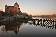 Free Morning Prague Riverside Royalty Free Stock Images - 19516499