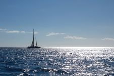 Free Yacht In Caribbean Sea Royalty Free Stock Photos - 19516768