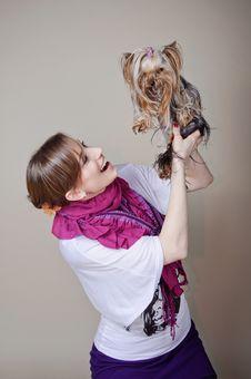 Free Beautiful Woman With Dog Stock Photos - 19516833