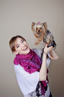 Free Beautiful Woman With Dog Stock Image - 19516871