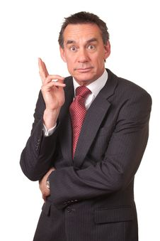 Surprised Shocked Business Man In Suit Royalty Free Stock Photography
