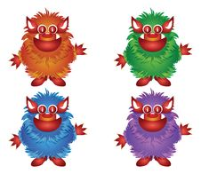 Free Hairy Monster Royalty Free Stock Photos - 19517428