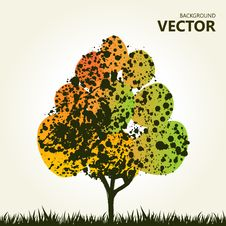 Free Abstract Colorful Tree Background Stock Photos - 19517703