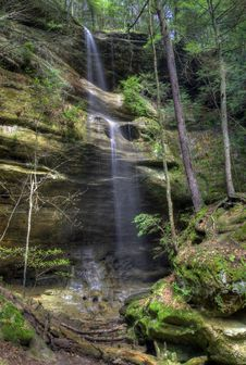 Free Waterfall  In Hocking HIlls Ohio Royalty Free Stock Images - 19517779