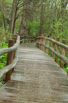 Free Wood Bridge Royalty Free Stock Photos - 19518438