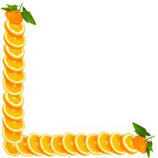 Free Orange Making A Border Stock Image - 19518441