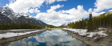 Majestic Scene In The Canadian Rockies Stock Photo