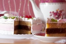 Beautiful Delicious Cake. Royalty Free Stock Images