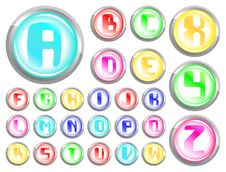 Free Buttons Alphabet Stock Photo - 19519800