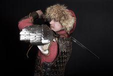 Free Warrior Is Slashing Royalty Free Stock Photos - 19519898