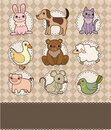Free Cartoon Animal Card Stock Image - 19520071