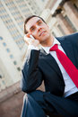 Free Businessman Calling Royalty Free Stock Photography - 19521277