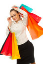 Free Stylish Woman With Shopping Bag Stock Image - 19523581