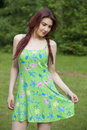 Free Woman In Summer Dress Royalty Free Stock Photography - 19523757
