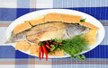 Free Whole Fried Bass Royalty Free Stock Photos - 19527388