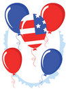 Free Independence Day,balloons Royalty Free Stock Photos - 19528738