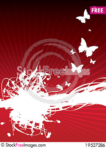 Abstract butterfly Stock Photo