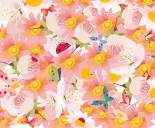 Free Floral Background In Vector Stock Images - 19520424