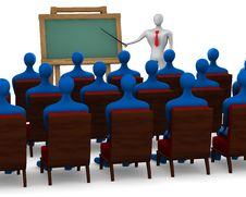 Group Of Students And Teacher Royalty Free Stock Photo