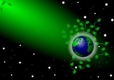 Free Earth Under Green Spotlight Royalty Free Stock Photos - 19520558