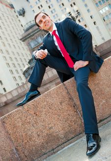 Free Businessman Calling Stock Photo - 19521270