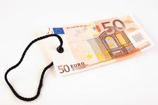 50 Euro Tag Stock Image