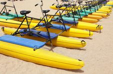 Free Water Bikes Royalty Free Stock Photography - 19522207