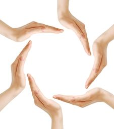 Free Female Hands Forming The Recycling Symbol Royalty Free Stock Image - 19522446