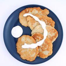Free Potato Pancakes Royalty Free Stock Photography - 19522747
