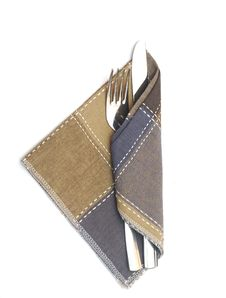 Knife And Fork In A Napkin Royalty Free Stock Photos