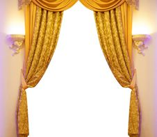 Free Luxury Curtain Royalty Free Stock Image - 19523826
