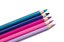 Free Set Of Colored Pencils, Violet-purple Palette Stock Photo - 19523840