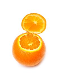 Free Opened Ripe Tangerine Stock Images - 19523984