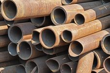 Steel Pipes Front View 3 Royalty Free Stock Images