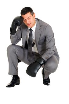 Free Businessman With Boxing Gloves Stock Photography - 19524252