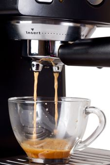 Free Espresso Machine Brewing A Coffee Espresso Royalty Free Stock Images - 19524389