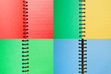Free Set Of Paper Spiral Notebooks Stock Image - 19524531