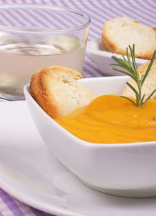 Cream Of Squash Soup Royalty Free Stock Photography